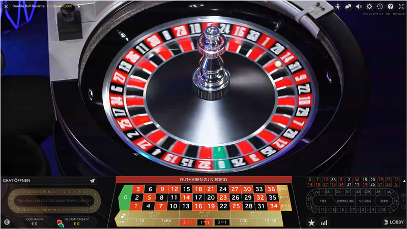 Double ball roulette 123 82280